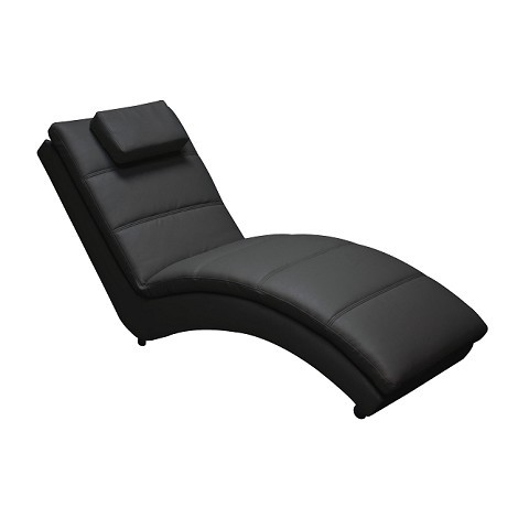 Chaise Long Ecopelle Nera
