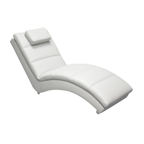 Chaise Long Ecopelle Bianco